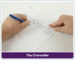The Overwriter another Left Hand writing styles